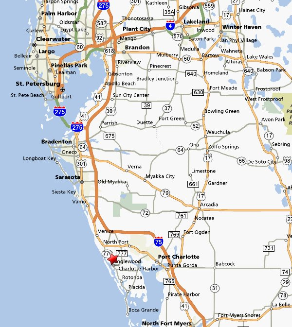 florida map with englewood