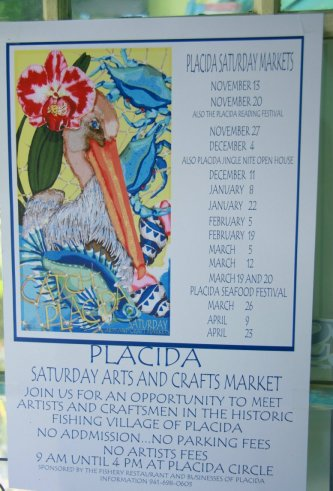 Welcome to the placida saturday arts crafts show in for Arts and crafts shows in florida